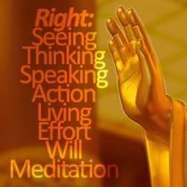 Während der Selbstreflektion, überprüfst Du all diese Bereiche und korrigierst sie in Deinem Geist: Rechte Sichtweise, rechtes Denken, rechtes Sprechen, rechtes Handeln, rechtes Leben, rechter Einsatz, rechter Wille, rechte Meditation