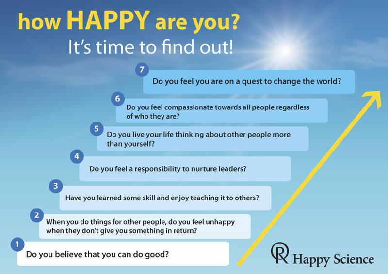 Hier kannst Du heraus finden, wie weit Du schon auf Deinem Weg ins Glück voran gekommen bist. Komm zu uns und wir gehen gemeinsam weiter!